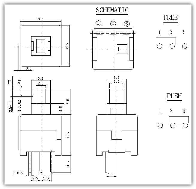 BS850 Series Switch (Push Switches)